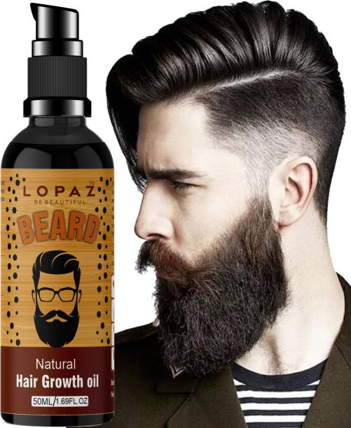 LOPAZ Beard Growth Oil More Beard Growth,8Natural Oils including Jojoba Oil, Vitamin E, Nourishment & Strengthening, No Harmful Chemicals beard growth oil for men Hair Oil