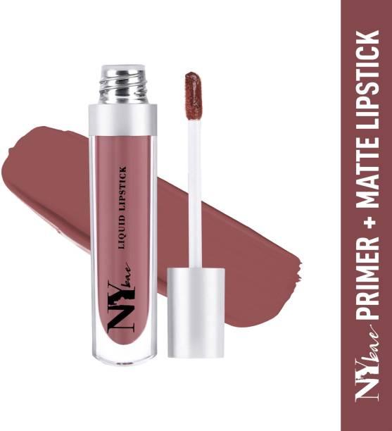 Ny Bae Primer + Matte Confessions of a Lip-a-holic Liquid Lipstick - Ladies night 6 (4.5 ml)