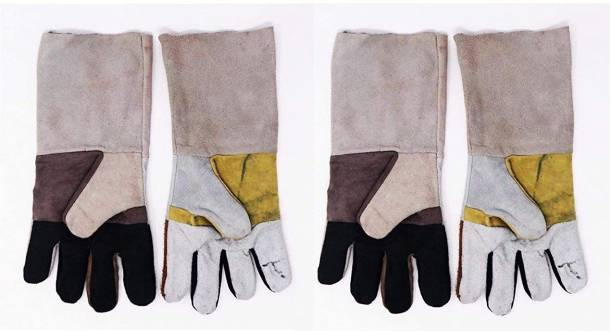 Hand Care Leather Welding Gloves with Kevlar Lining, TIG Welding Gloves, Extra Large 2 Pair Leather  Safety Gloves