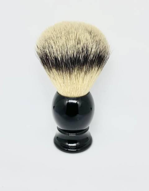 Osking  for Men Soft & Absorbent Brown Bristles & Long Resin Black Handle Shaving Brush