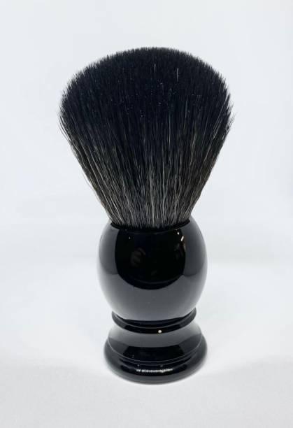 Osking  Soft & Absorbent Bristles & Long Handle Sleek BLACK Resin Handle (Men) Shaving Brush