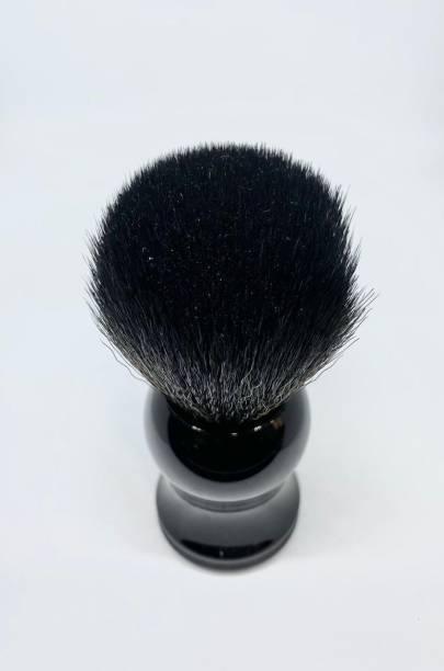Osking  for Men (Sleek BLACK Resin Handle) Soft & Absorbent Bristles & Long Handle (Black Bristles) Shaving Brush