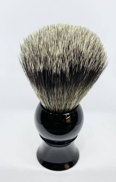 Osking Sleek Black Resin Handle  for Men and Boys Soft & Absorbent Bristles & Long Handle Shaving Brush