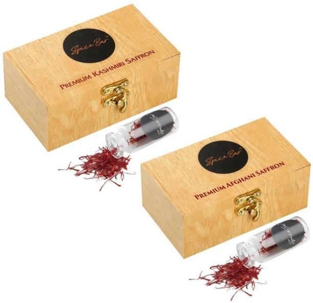 Spice Bar Kesar Combo of Afghani & Kashmiri ( A++ Grade Saffron)