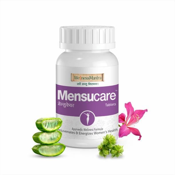 WellnessMantra Mensucare   Ayurvedic 60 Tablets   For Irregular Menstruation   Correct Hormonal Balance, Overcome PCOS/PCOD, Regularize Periods & prevent painful periods   Shatavari, Ashoka, Lodhra & 24 more herbs