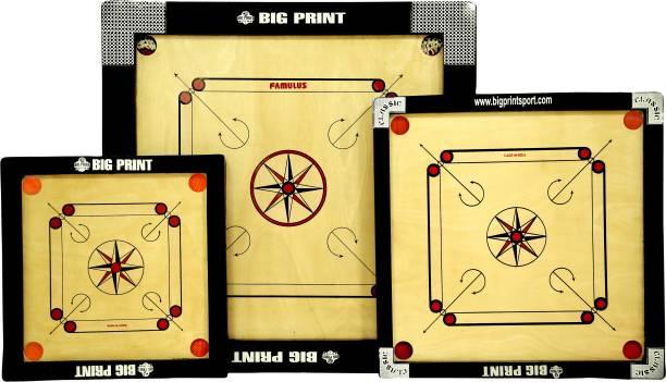 BIGPRINT SPORTS BIGPRINT SET OF 3 CARROM BOARD 36 cm Carrom Board