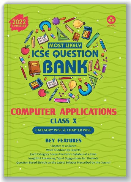 ICSE Most Likely Question Bank Computer Applications Class 10 (2022 Exam) - Categorywise & Chapterwise Topics, Latest Syllabus, Solved Papers