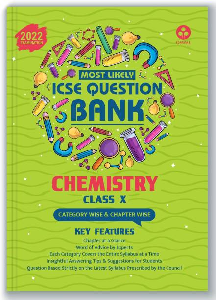 ICSE Most Likely Question Bank Chemistry Class 10 (2022 Exam) - Categorywise & Chapterwise Topics, Latest Syllabus Pattern and Solved Papers
