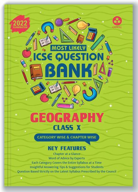 ICSE Most Likely Question Bank Geography Class 10 (2022 Exam) - Categorywise & Chapterwise Topics, Latest Syllabus Pattern and Solved Papers