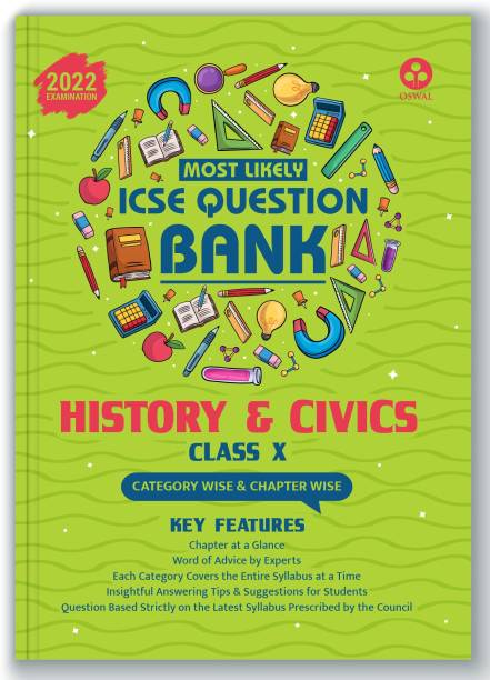 ICSE Most Likely Question Bank History & Civics Class 10 (2022 Exam) - Categorywise & Chapterwise Topics, Latest Syllabus and Solved Papers