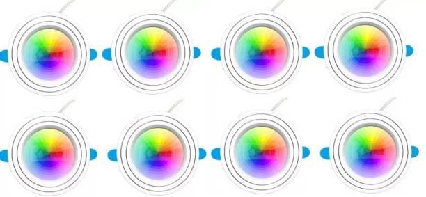 Nightstar 9 Watt 3 Colour in 1 Ceiling Light Pack of 8 Recessed Ceiling Lamp