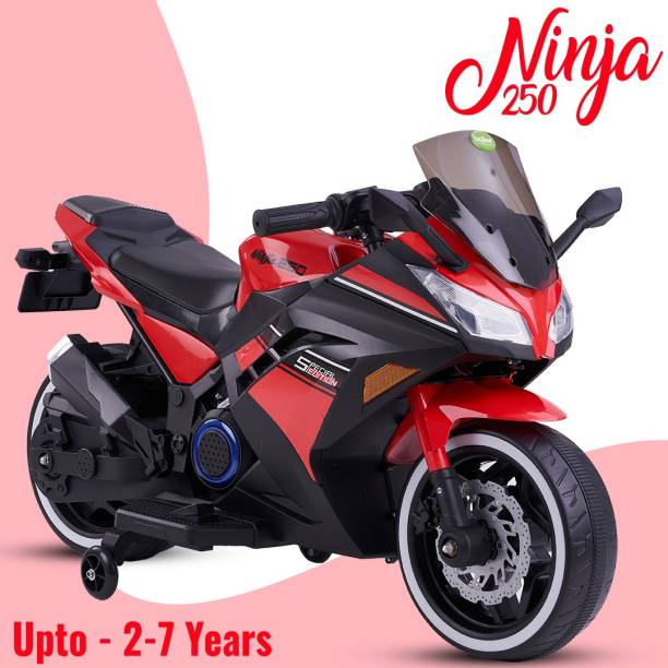 baybee Racer Battery Operated Bike for Kids 1 Motor Bike for Kids-Electric Bike for Kids contains (1 motor) and (12V battery) and suitable upto (1-10 years) Bike Battery Operated Ride On