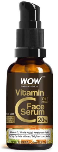 WOW SKIN SCIENCE Vitamin C Serum - Skin Clearing Serum - Brightening, Anti-Aging Skin Repair, Supercharged Face Serum, Dark Circle, Fine Line & Sun Damage Corrector, Genuine 20% - 15ml