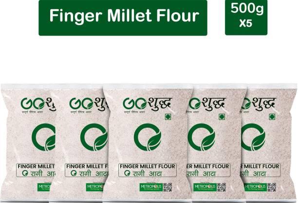 Goshudh Premium Quality Ragi Atta/Flour 500g Combo Pack Of 5