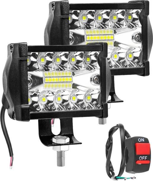FABTEC New Pack of 2 Premium Quaility IP67 WaterProof 18 LED Light With Switch universal for cars/bikes/truks/scooty/cycles/vans/etc. headlight high beem fog light. Back Up Lamp, Brake Light, Dash Light, Fog Lamp, Headlight, Indicator Light, Interior Light, License Plate Light, Parking Light, Reversing Light, Side Marker, Tail Light Car, Motorbike, Truck, Van LED (12 V, 55 W)