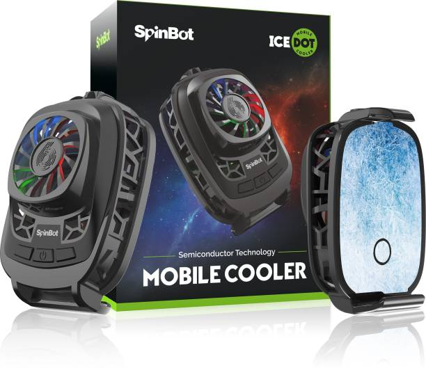 SpinBot IceDot semi-conducter based Mobile Cooler for Android/iOS Smartphones  Gaming Accessory Kit