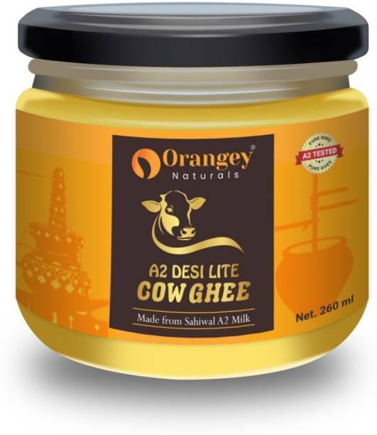 Orangey Naturals A 2 Pure Desi Sahiwal Cow Ghee 260 ml in glass bottle Ghee 260 ml Glass Bottle
