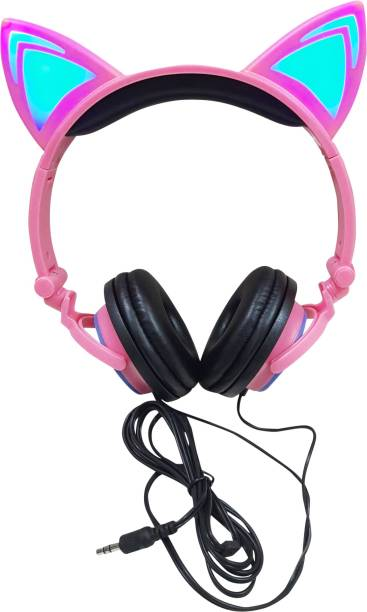 ONOTIC Light Unicorn Headphone Ear Shape Over The Ear for Kids Wired without Mic Headset