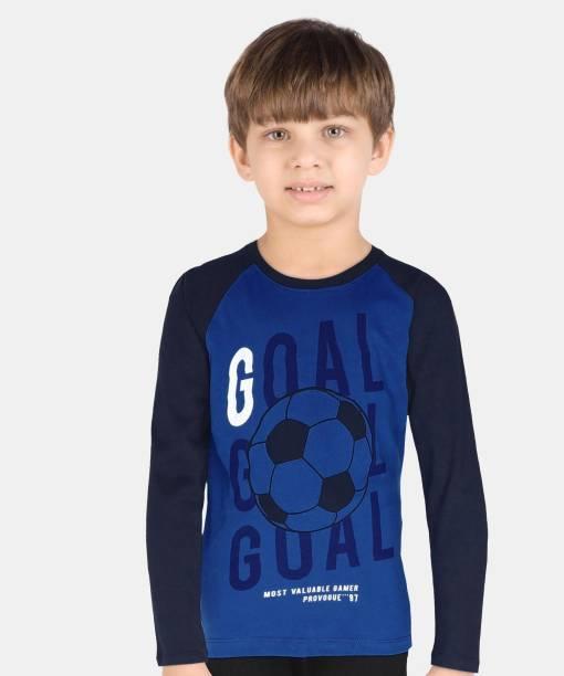 PROVOGUE Boys Colorblock Pure Cotton T Shirt