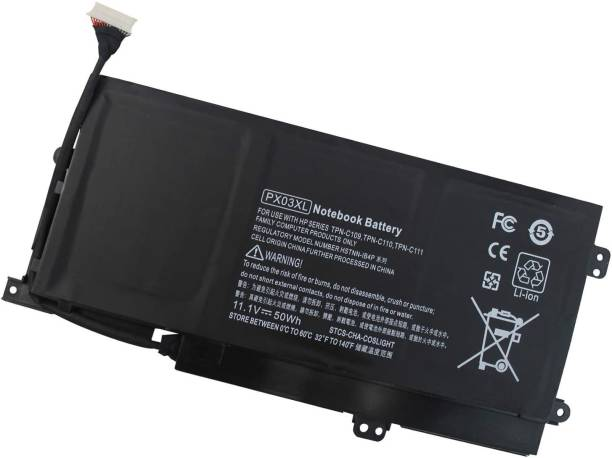 WISTAR PX03XL Notebook Battery for HP Envy 14 Touchsmart M6 M6-K M6-K125DX M6-K015DX M6-K025DX M6-K010DX M6-K022DX 14- K112NR 715050-001 714762-1C1 TPN-C109 TPN-C110 TPN-C111-12 4 Cell Laptop Battery