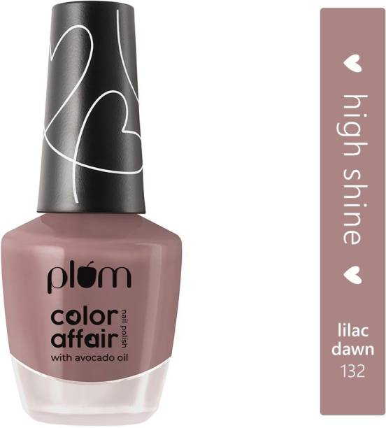 Plum Color Affair Nail Polish - Lilac Dawn - 132 | 7-Free Formula | High Shine & Plump Finish | 100% Vegan & Cruelty Free (Lilac Dawn - 132)