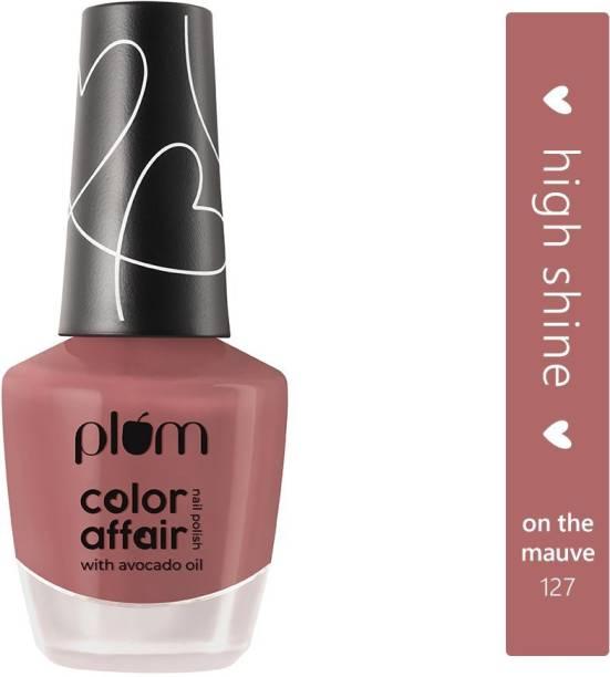 Plum Color Affair Nail Polish - On The Mauve - 127 | 7-Free Formula | High Shine & Plump Finish | 100% Vegan & Cruelty Free (On The Mauve - 127)