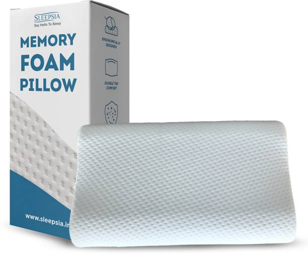 Sleepsia Memory Foam Geometric Sleeping Pillow Pack of 1