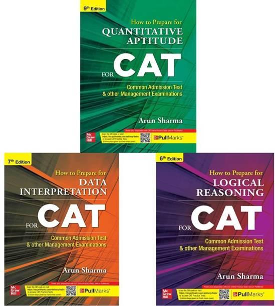 CAT Books By Arun Sharma 2021 ( Set Of 3 Books ) With CAT Practice Tests On Pull Marks -Quantitative Aptitude + Logical Reasoning + Data Interpretation