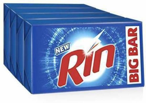 Rin 250 Gm Soap Detergent Bar 7060 soap Detergent Bar (250 g, Pack of 4) Detergent Bar