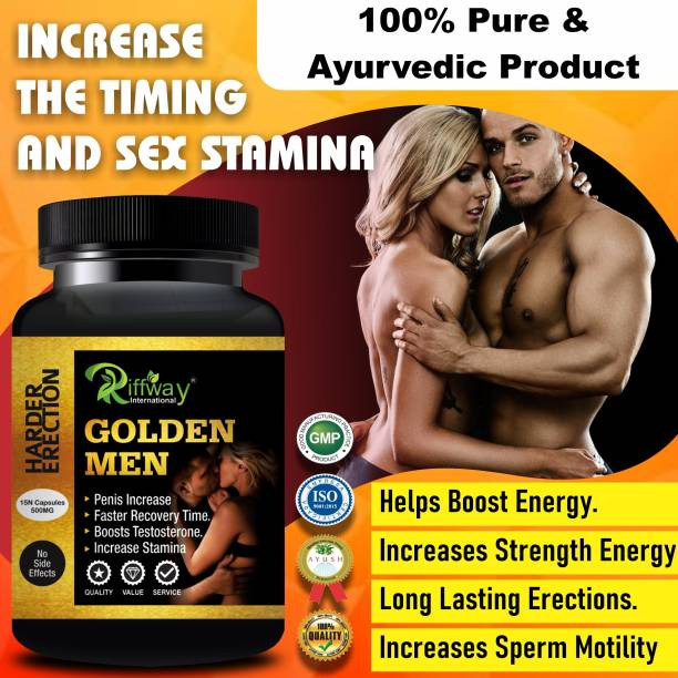 Fasczo Golden Men Sexual Capsules Sex Time Badhane Ki Dawa/ Sexual Power Booster Tablets 100% Ayurvedic