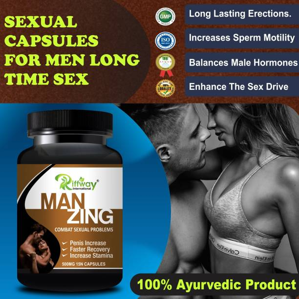 Natural Man Zing Sexual Capsules For Male's Sex Power Booster/Increases Penis Size 100% Ayurvedic