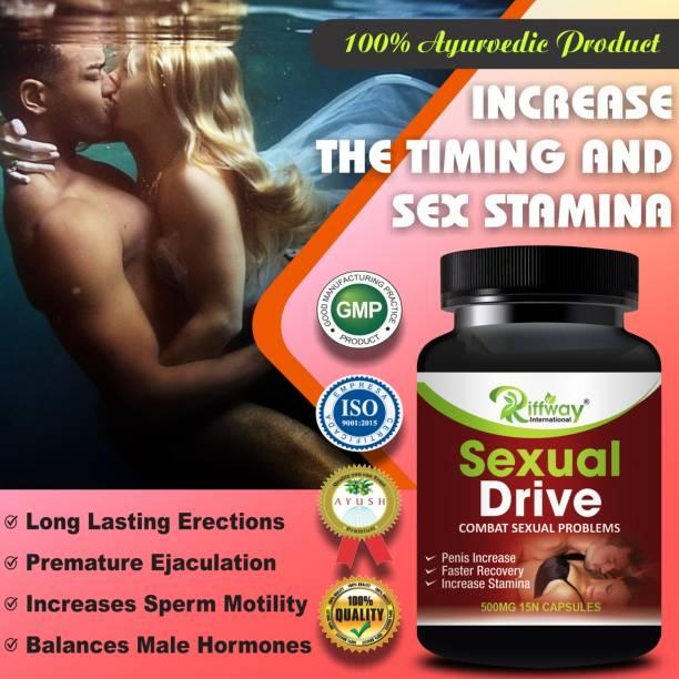 Riffway Sexual Drive Sexual Capsules Sex Time Badhane Ki Dawa/ Sexual Power Booster Tablets 100% Ayurvedic