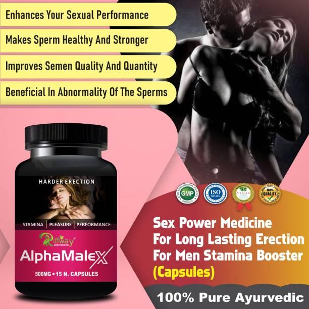 Floarkart Alpha Male X Sexual Capsules For Ling Mota Lamba Karne Ki Medicine/Increase Sexual Time 100% Ayurvedic