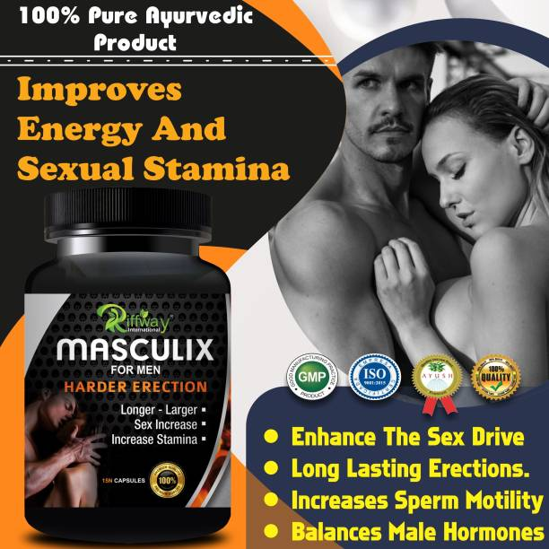 Riffway Masculix Sexual Capsules For Ling Lamba Mota Karne Ki Dawa/ Ling Khada Karne Ki Dawai 100% Pure