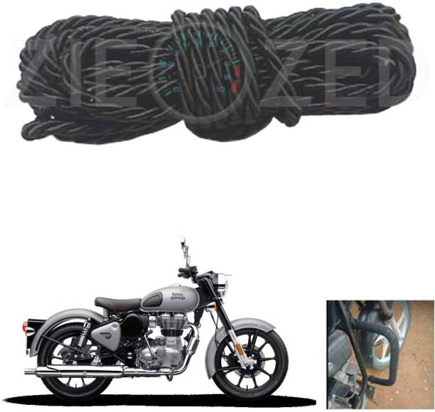 Zieozed ZD1BK40 Black Bike Rope For Leg Guard/Crash Guard and Backrest Multi Purpose Rope (Black) For Royal Enfield Bullet and all Other Bikes Pack Of 1