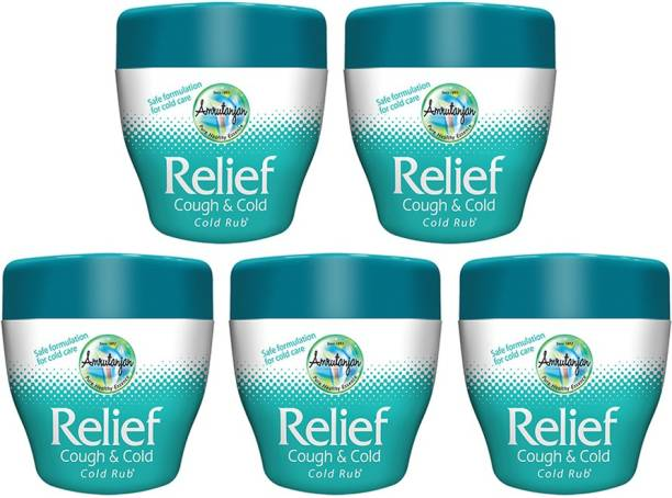 Amrutanjan RELIEF COUGH & COLD RUB 30 GMS (Each) PACK OF 5 Balm
