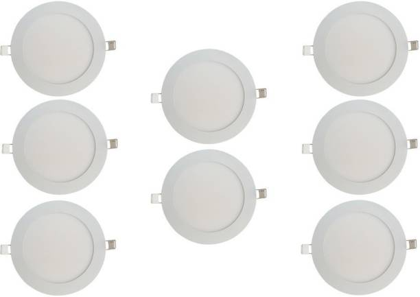 BENE LED 6w Round Slim Recessed Panel, Color of LED Warm White (Yellow) Recessed Ceiling Lamp