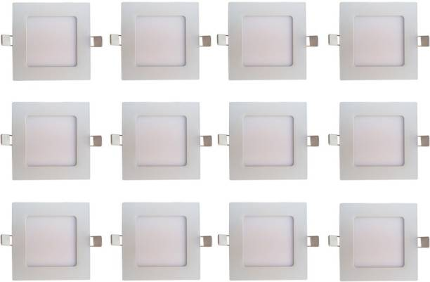 BENE LED 6w Square Slim Recessed Panel, Color of LED Warm White (Yellow) Recessed Ceiling Lamp