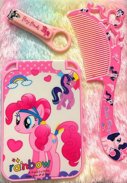 FATFISH Unicorn Mirror for Girls Kids/Unicorn Mirror with Comb / Unicorn Hair Comb for Girls/ Cute Makeup kit for Girls/ Unicorn Vanity for Girls / Unicorn Nail Clipper