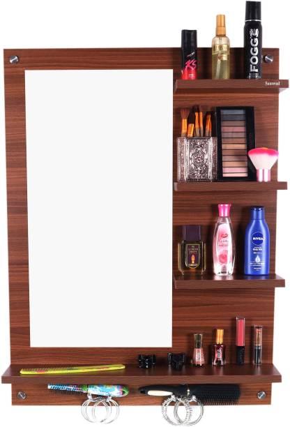 Sumwud Dressing Mirror Table Cwalnut Engineered Wood Dressing Table
