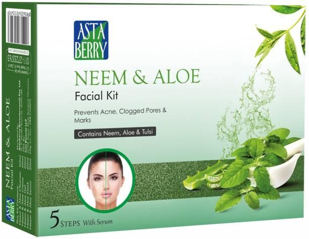 ASTABERRY Neem & Aloe Facial Kit 5 Steps 270 gm
