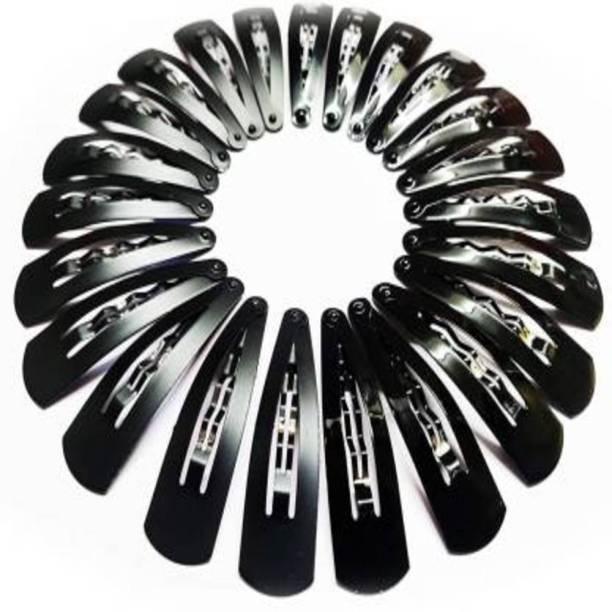 Sharum Crafts Metal Black Hair Clips/Designs tic tac clips/Printed Tic Tac Hair Clips for Women's /Girls Tic Tac Clip (Black) Tic Tac Clip