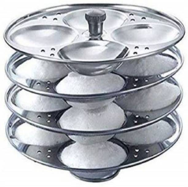 Online Quality Store 4-Rack Idli Stand, Makes 16 Idlis Induction & Standard Idli Maker (4 Plates , 16 Idlis ) Induction & Standard Idli Maker
