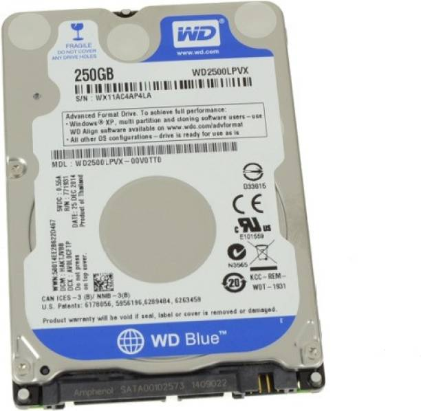 WD scorpio 250 GB Laptop Internal Hard Disk Drive (blue sp)