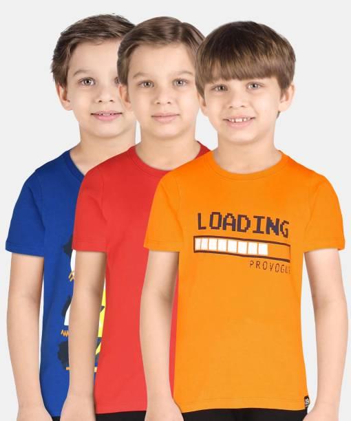 PROVOGUE Boys Graphic Print Pure Cotton T Shirt