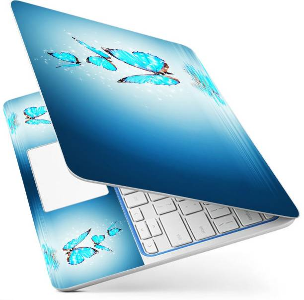 POINT ART HQ Laptop Skin Full Panel Decal Sticker Glossy Vinyl Fits Size Bubble Free – Sky Butterfly Vinyl Laptop Decal 15.6