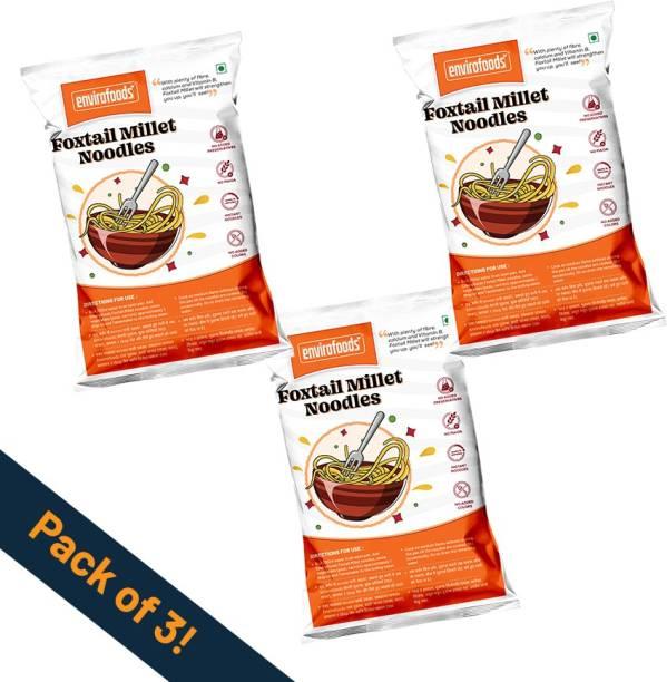 envirofoods Instant Foxtail Millet Noodles Pack of 3 Instant Noodles Vegetarian