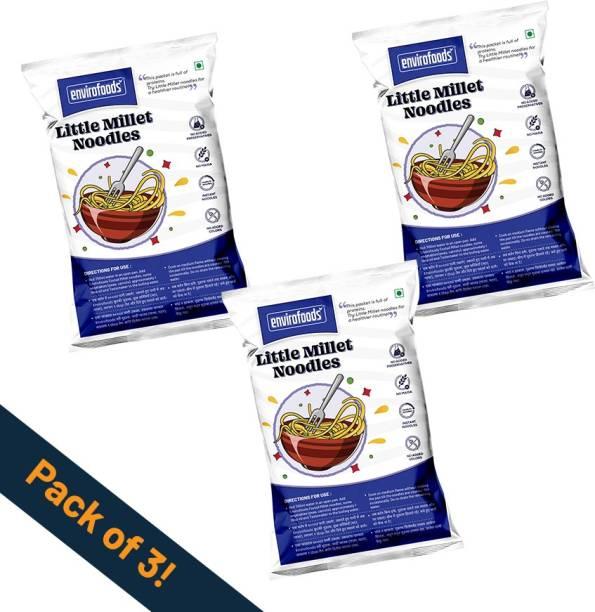 envirofoods Instant Little Millet Noodles Pack of 3 Instant Noodles Vegetarian