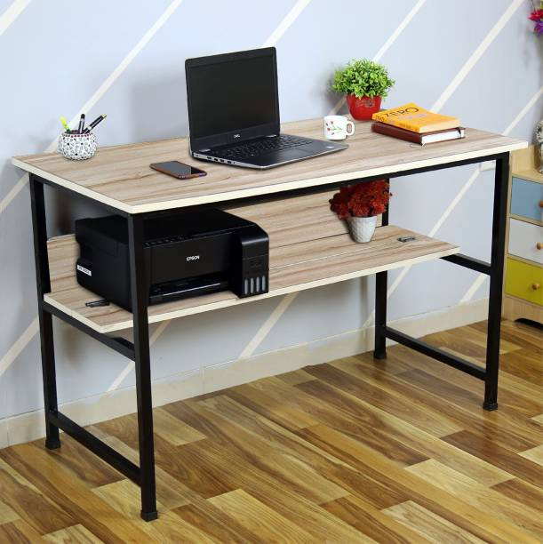 KAWACHI Laptop Table Computer Desk for Writing Study for Home Engineered Wood Study Table