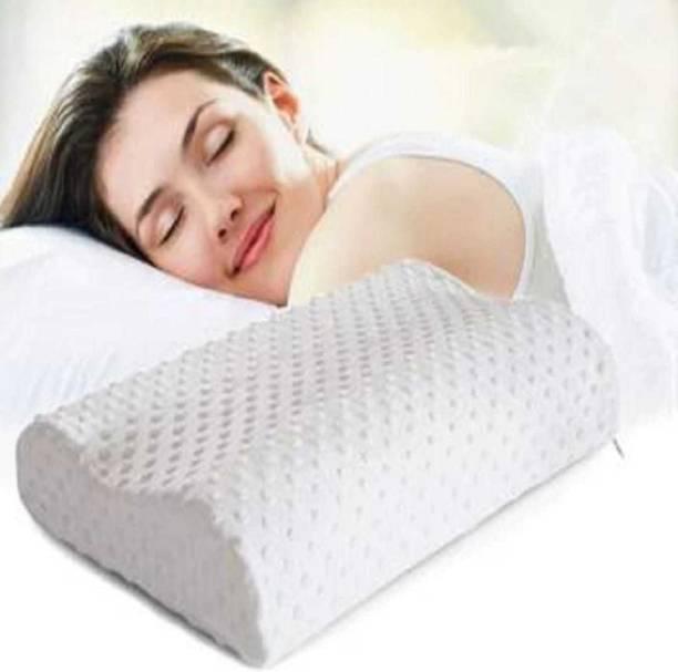 manshav Memory Foam Solid Orthopaedic Pillow Pack of 1